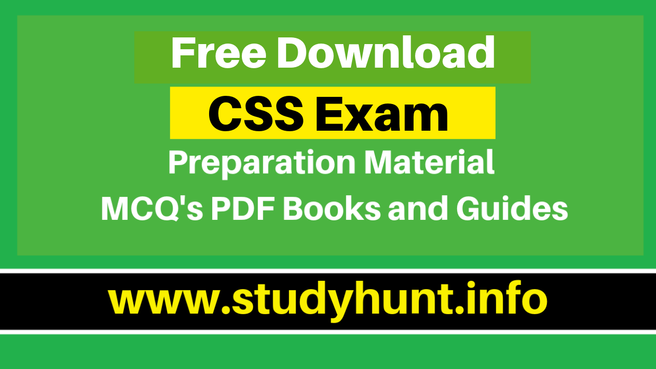 Free-CSS-Preparation-Material-MCQs-PDF-Books-and-Guides