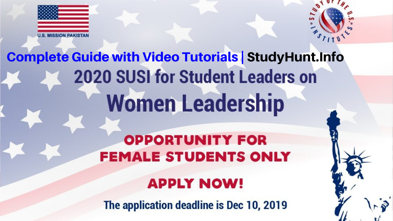 SUSI Women Leaders 2020 Summer Exchange Program to United States of America (Fully Funded)